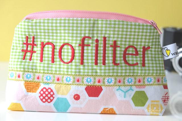 DIY Hashtag Schminktäschchen | #nofilter | waseigenes.com DIY Blog