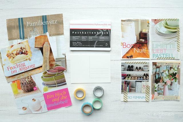 diy postkarten aus alten zeitschriften basteln was. Black Bedroom Furniture Sets. Home Design Ideas