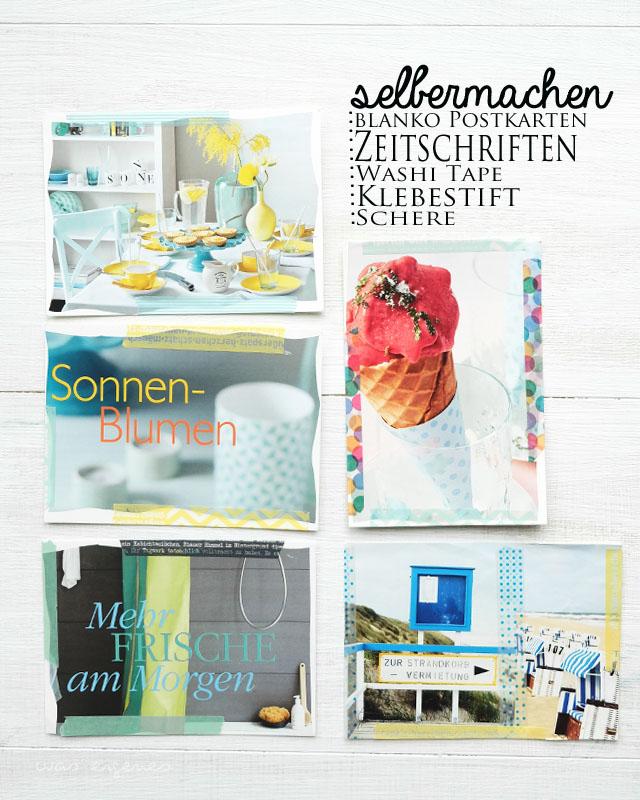 DIY Postkarten selbermachen | alte Living at Home Zeitschriften | waseigenes.com Blog