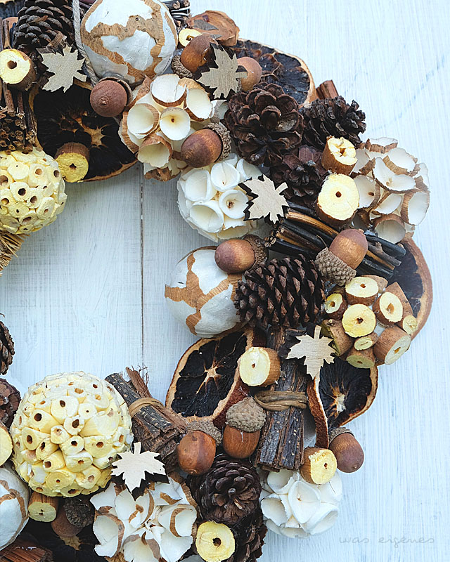 DIY Herbstkranz | craft project for fall | was eigenes Blog