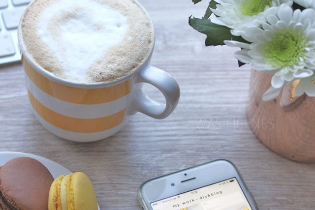 was eigenes blog macarons kaffee