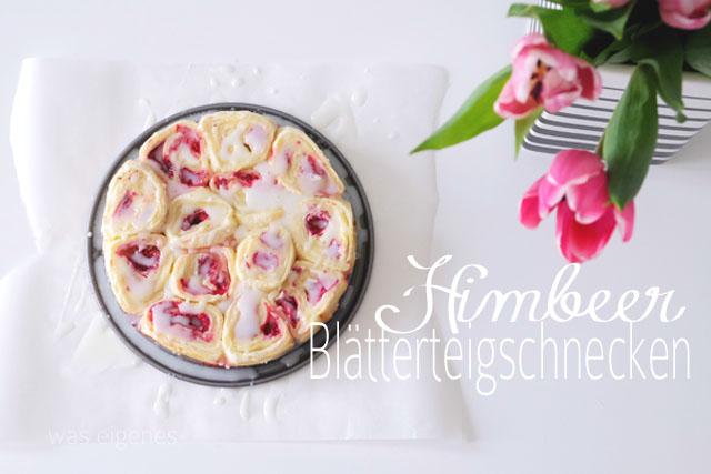Himbeer Blätterteig Schnecken | Rezept waseigenes.com