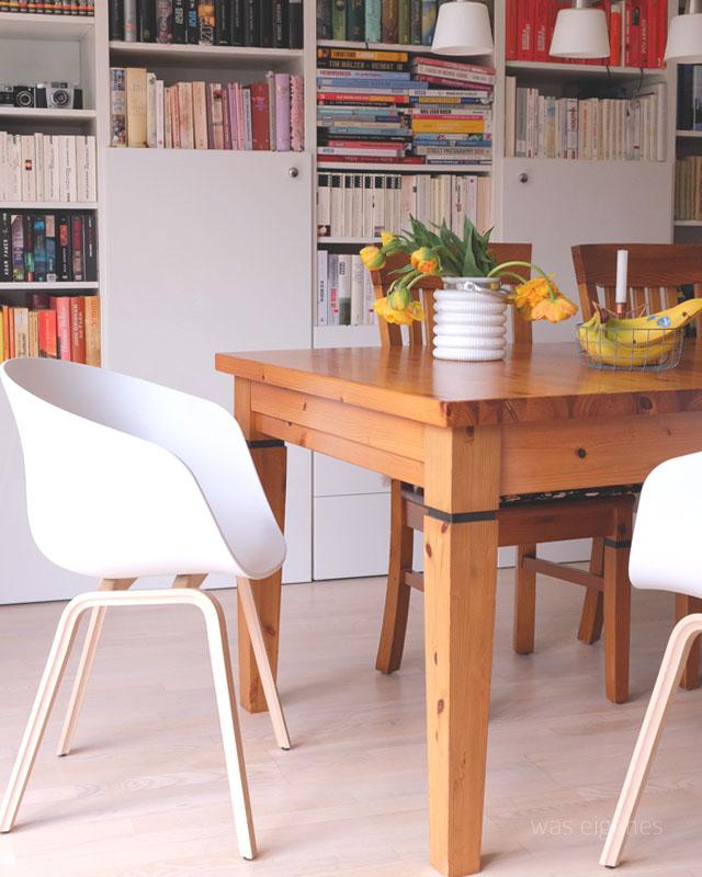 einrichtung leben wir haben neue hay st hle in unserem esszimmer. Black Bedroom Furniture Sets. Home Design Ideas
