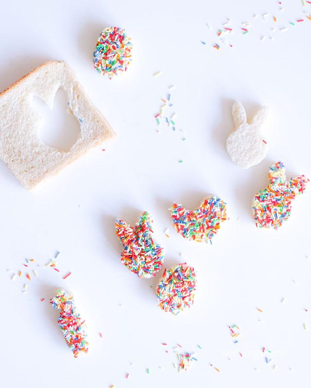 Frohe Ostern | Zuckerstreusel Toast | Osterhase | waseigenes.com