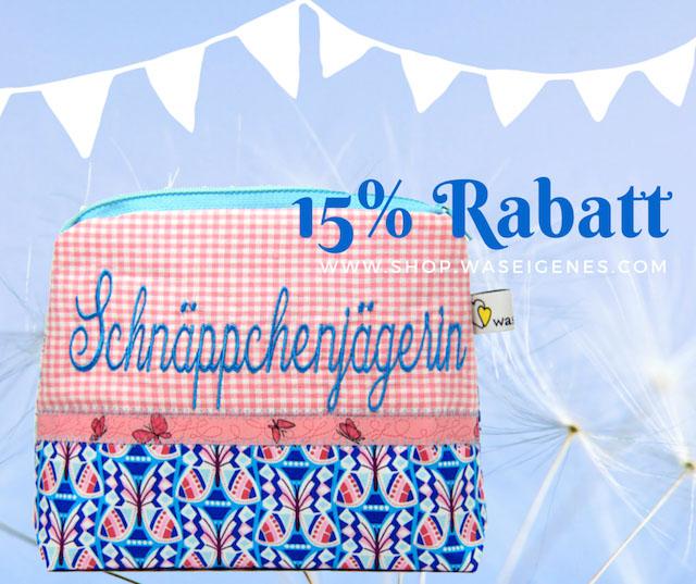 15% Rabatt Schminktäschchen waseigenes.com
