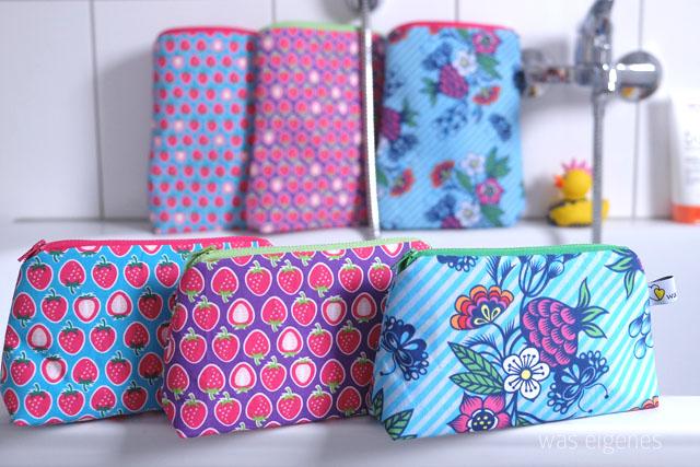 DIY Shampoo Täschchen von waseigenes.com DIY Blog | Reißverschluss-Taschen, mit Duschvorhang gefüttert, für Shampoo und Duschgel | waseigenes.com DIY Blog