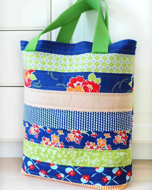 DIY Schritt-für-Schritt Nähanleitung für eine Jelly Roll ToteBag | Jelly Roll Einkaufstasche | waseigenes.com DIY Blog
