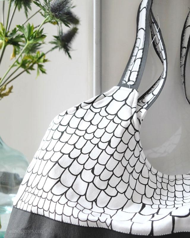 Tasche selber nähen | Snap Pap Shopper | schwarz & weiss | waseigenes.com Blog