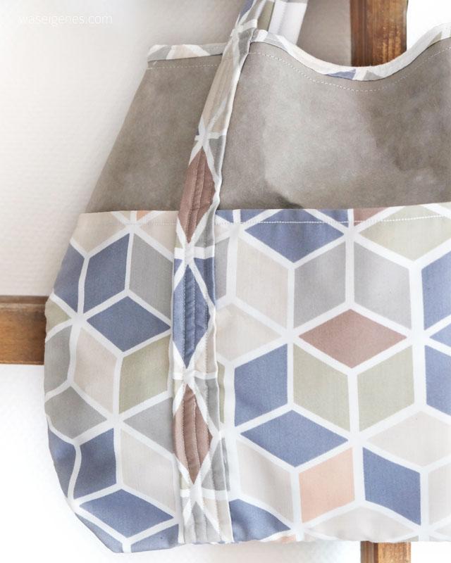 Einkaufstasche aus SnapPap und Baumwolle selber nähen | DIY SnapPap Handtasche nähen | waseigenes.com DIY Blog