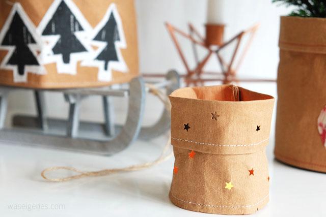 DIY: Teelicht-Behälter aus SnapPap selber nähen | waseigenes.com