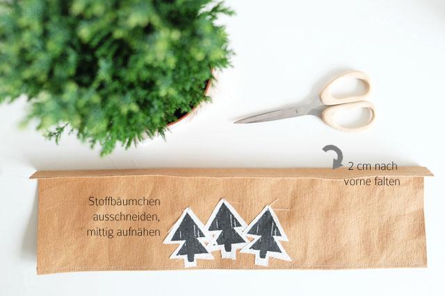 DIY Schritt-für-Schritt-Anleitung: DIY: Übertöpfe aus SnapPap selber nähen und mit weihnachtenlichen Stoffapplikationen aufhübschen | waseigenes.com