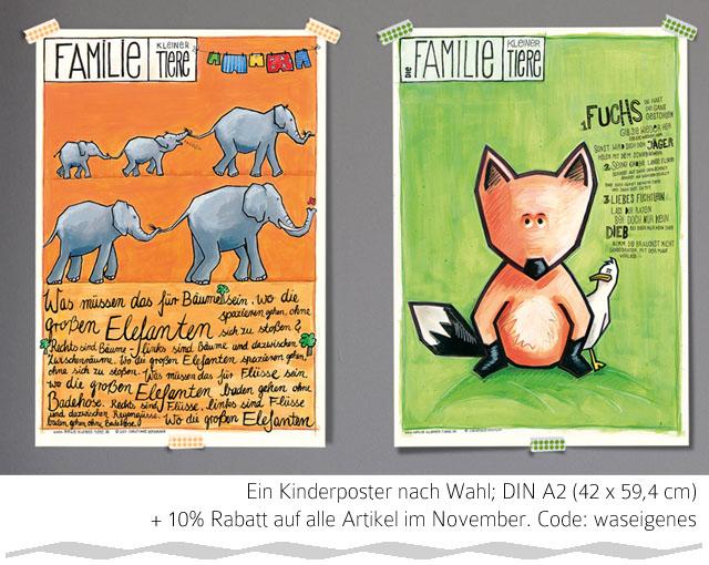 Giveaway Familie der kleinen Tiere | Kinderposter | waseigenes.com