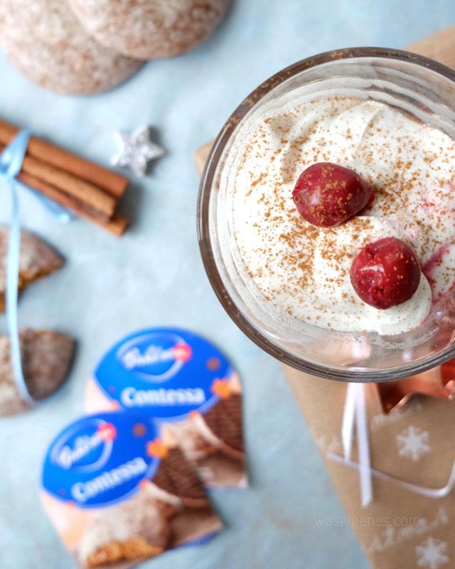 Lebkuchen Dessert mit Mascarpone-Quark Creme und Schattenmorellen | waseigenes.com