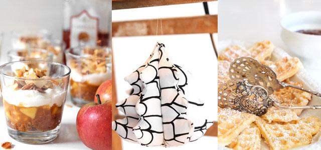 waseigenes.com Bratapfel Tiramisu | Weihnachtsbaeumchen | Waffeln mit Pflaumenmus