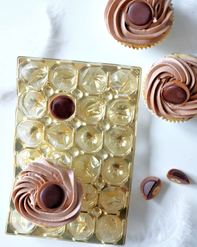 Toffifee Cupcakes mit Nutella-Buttercreme-Topping | Rezept | waseigenes.com