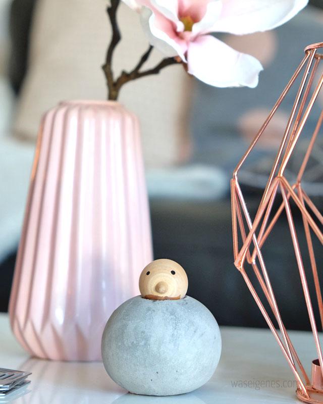 Wohnzimmer | rosa grau schwarz weiss und ein bisschen kupfer | Unser Wohnzimmer mit neuen Farbtupfern | Einrichtung | waseigenes.com