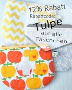 12% Rabatt auf alle Schminktäschchen, Miniapotheken, Stoffbeutel, Stiftmäppchen & Shampootäschchen   www.waseigenes.com