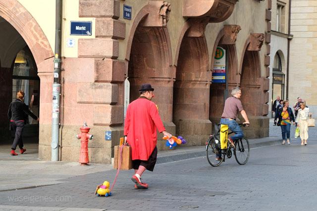 Ein Wochenende in Leipzig | waseigenes.com | Markt | Clown