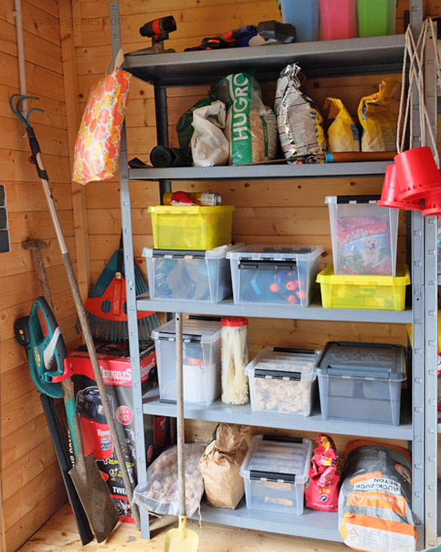Gartenhaus aufraeumen | Orthex Boxen | waseigenes.com 2