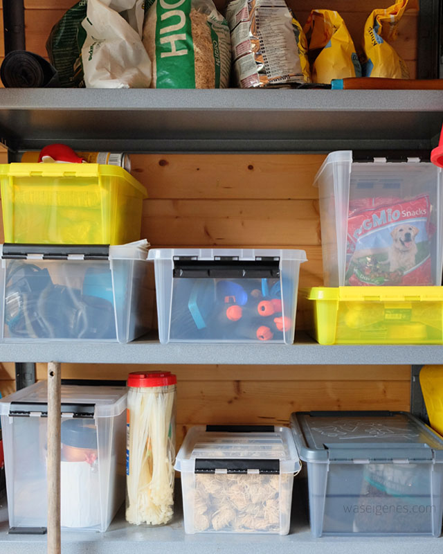 Gartenhaus aufraeumen | Orthex Boxen | waseigenes.com 3