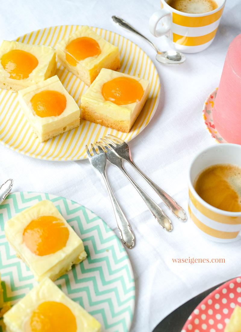 Rezept Spiegeleier Kuchen | Aprikosen | waseigenes.com | Was backe ich heute? Rezepte für Ostern | Rezepte für die Familie