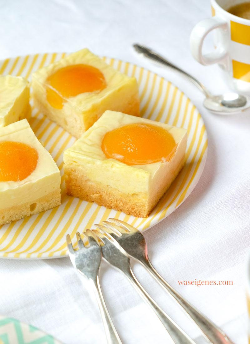 Rezept Spiegeleier Kuchen | Aprikosen Quarkkuchen | waseigenes.com | Was backe ich heute? Rezepte für Ostern | Rezepte für die Familie