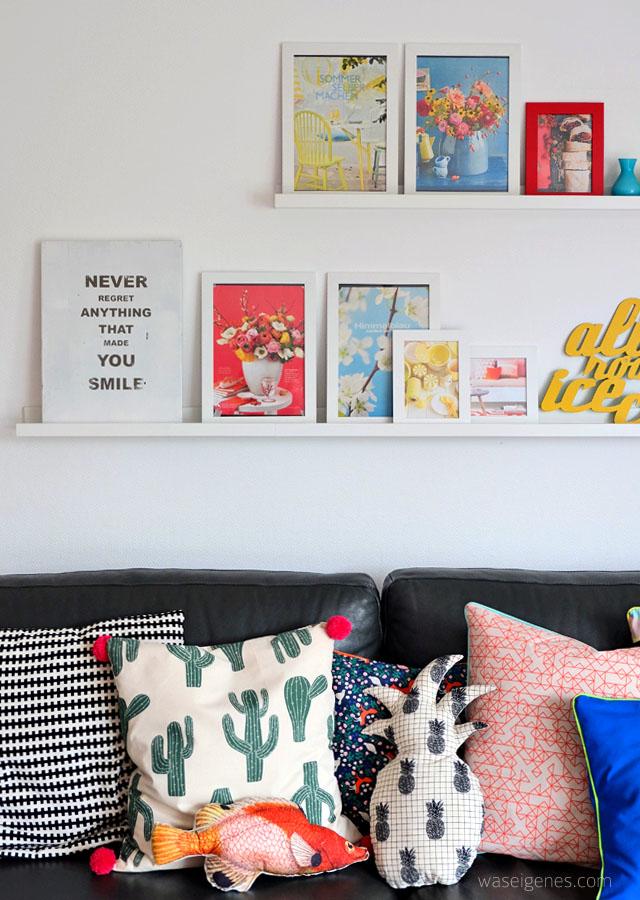 Wohnzimmer makeover | selbst genaehte Kissenbezuege | neue Couchtische | waseigenes.com 11