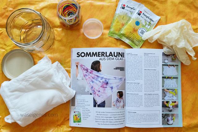 Batik im Glas | DIY Batik Halstuch | waseigenes.com Blog