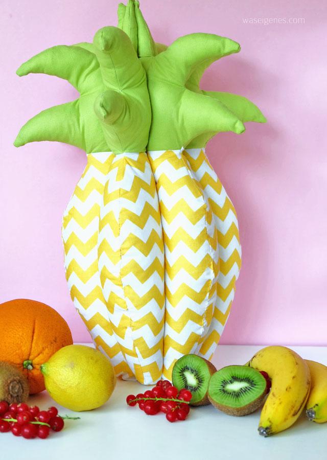 Genaeht: Eine 3 D Ananas | Naehanleitung | waseigenes.com Blog