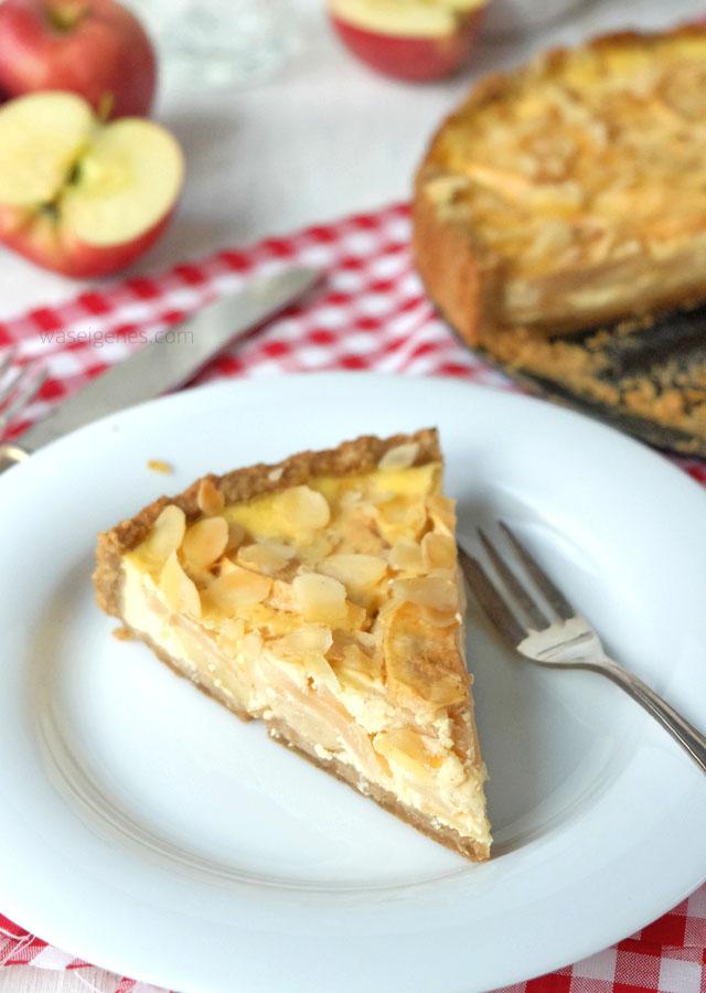 Rezept: Apfel Schmand Kuchen mit Espressoboden | waseigenes.com