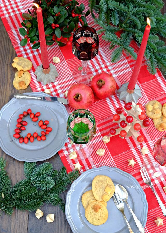 Etsy #differencemakesus | Weihnachtsdeko rot und grün | Rezept Marshmallow Cookies | waseigenes.com | November 2016