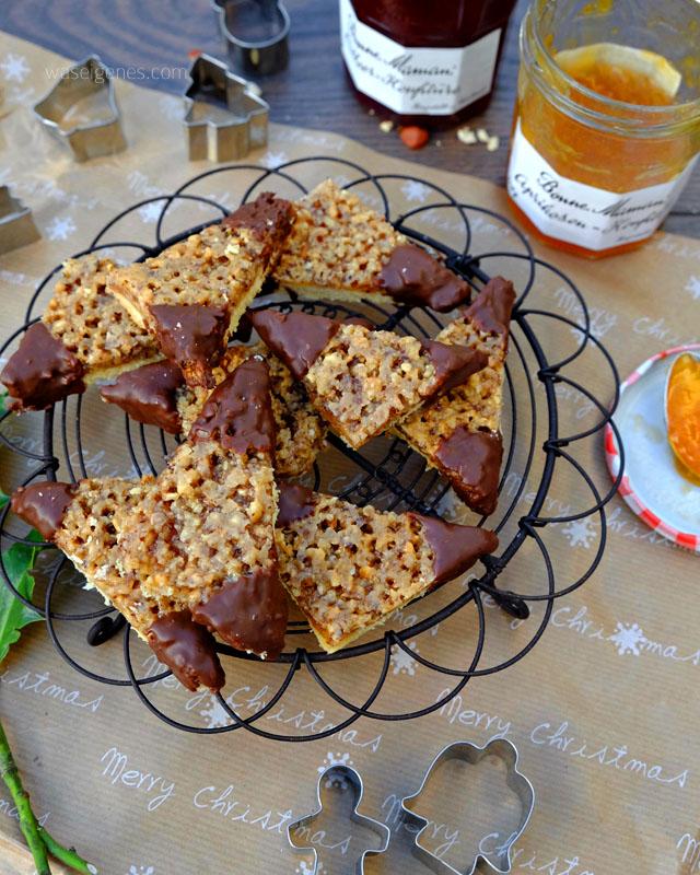 Rezept: Nussecken mit Aprikosenmarmelade | Bonne Maman Konfitüre | waseigenes.com