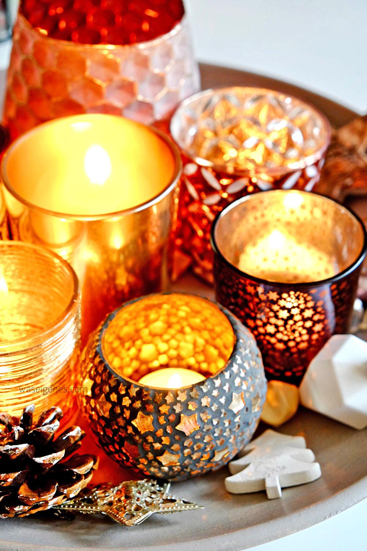 Weihnachtsdeko | Kupfer & Teelichter | waseigenes.com