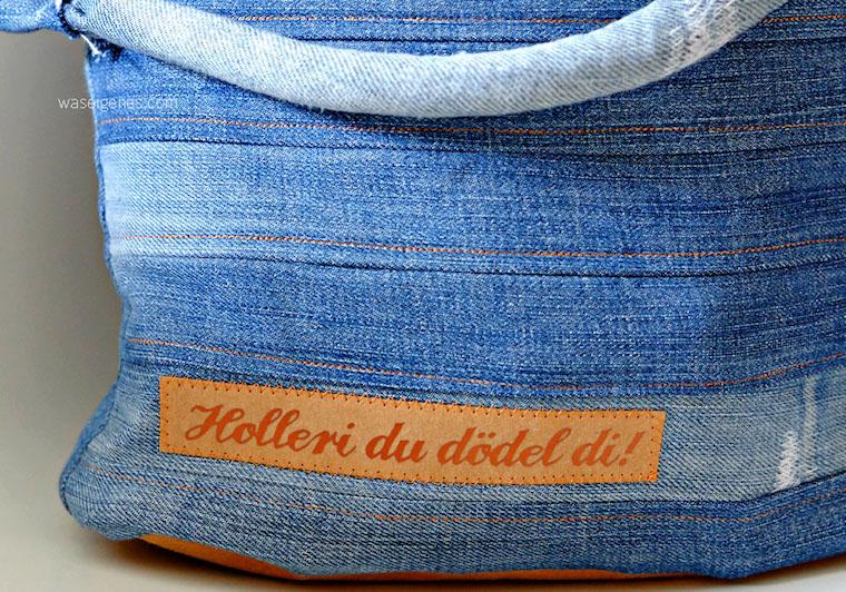 Chobe Upcycling Tasche | selbernähen & DIY | Jeanstasche | Snap Pap | Plotter Schriftzug | waseigenes.com