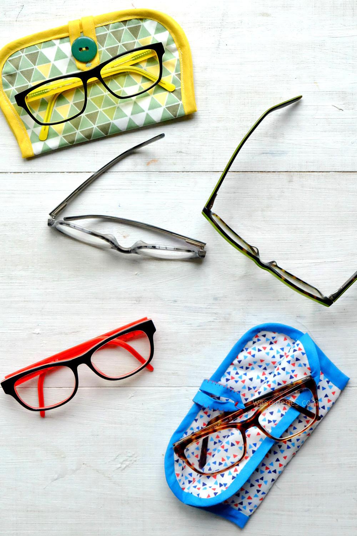 Nähanleitung: Brillenetui nähen | Stoff, Vlieseinlage, Schrägband & Knopf | Fotoanleitung auf waseigenes.com