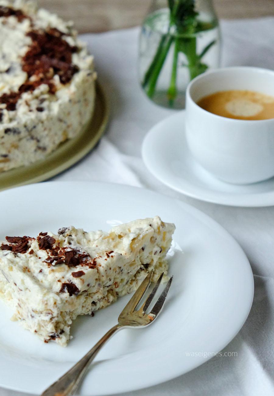 Rezept: Eissplitter Torte | Baiser Torte | Grillage Torte | waseigenes.com