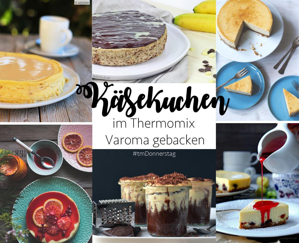 Kasekuchen Mit Amarenakirschen Im Thermomix Varoma Gebacken