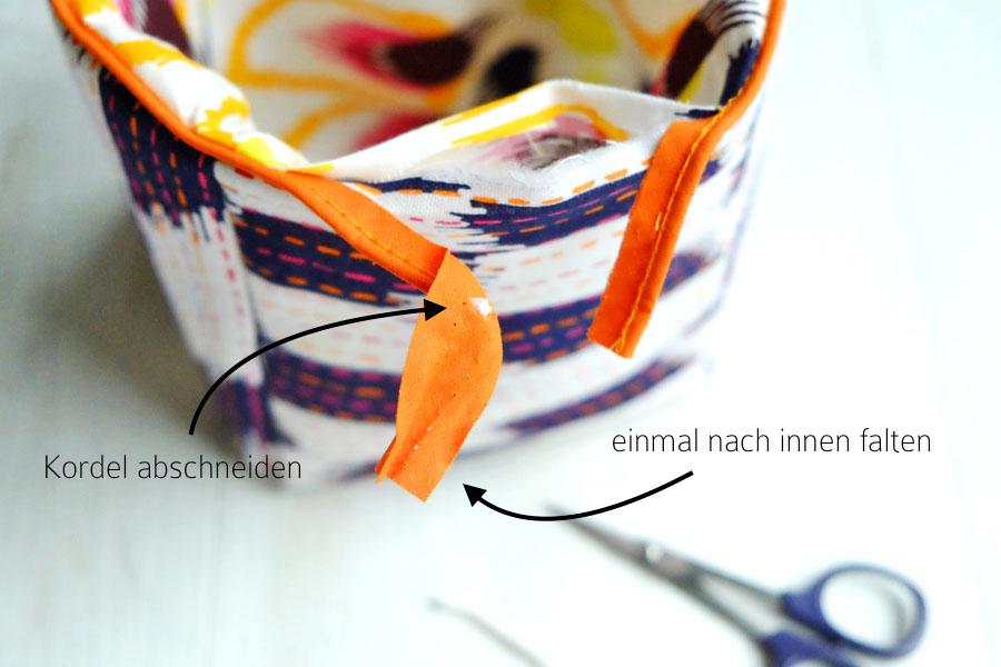 DIY Nähanleitung Stoffkorb | Körbchen aus Stoff selber nähen | waseigenes.com