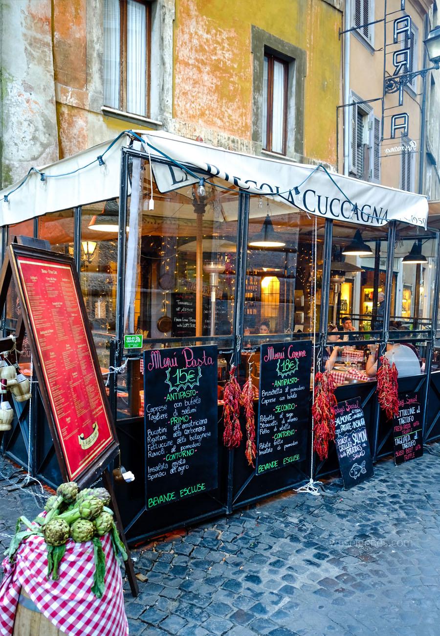 Rom | ewige und heilige Stadt | Italien | Kurzurlaub | waseigenes.com | Ristorante - La Piccola Cuccagna