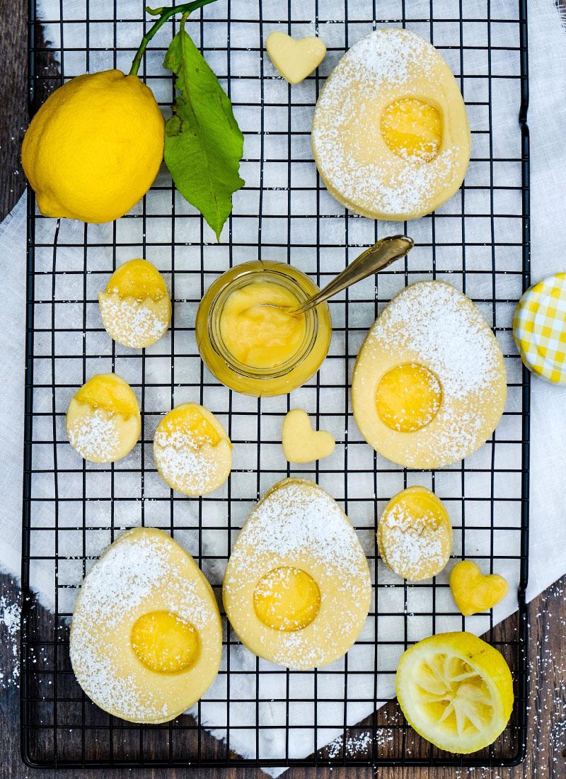 Rezept: Lemon Curd Plätzchen zu Ostern |  | Leckeres für die Ostertafel | Rezepte für Ostern | waseigenes.com | Best of Ostern