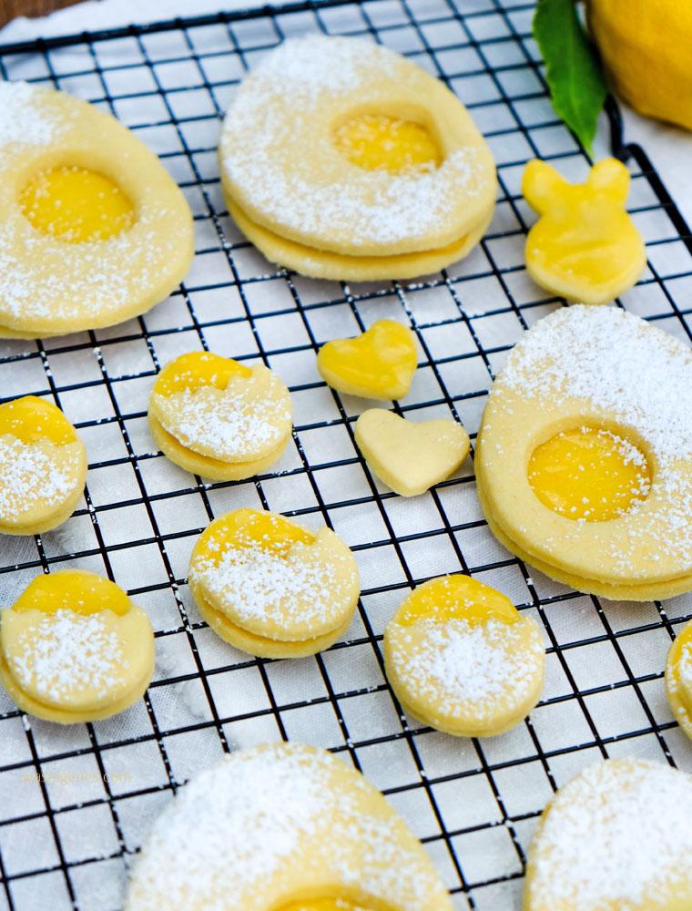 Köstliche Plätzchen für den Osterbrunch: Rezept für Lemon Curd Plätzchen, waseigenes.com | Was backe ich heute? #Ostern #LemonCurd