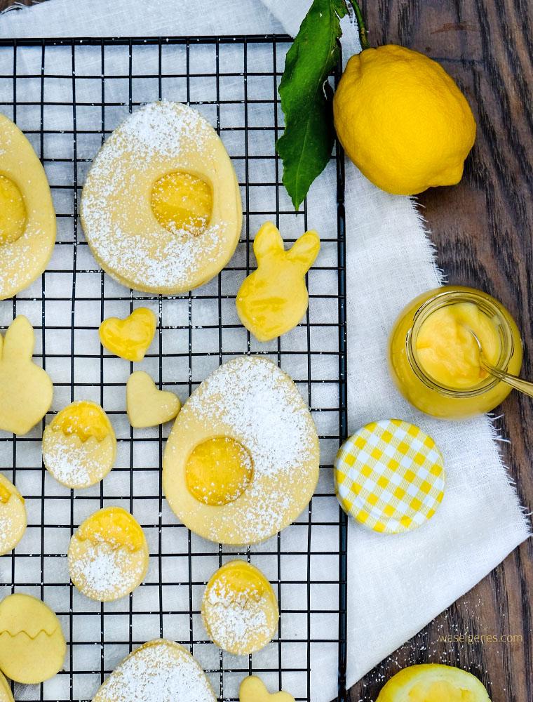Köstliche Plätzchen für den Osterbrunch: Rezept für Lemon Curd Plätzchen, waseigenes.com | Was backe ich heute? Familinrezepte