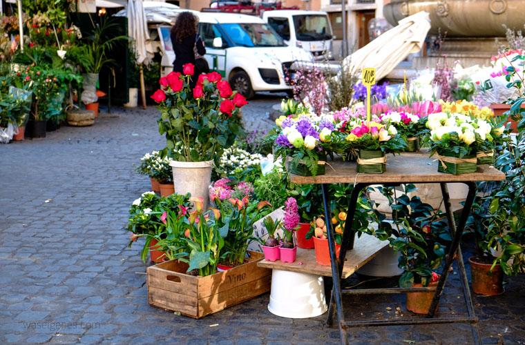 Travel Rom: Campo de' Fiori | Wochenmarkt | waseigenes.com