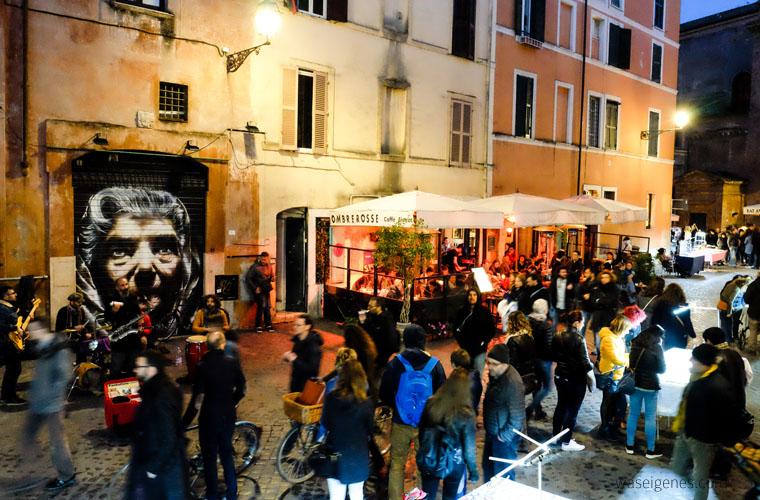 Travel Rom: Trastevere | Café Bistro Ombre Rosse | waseigenes.com