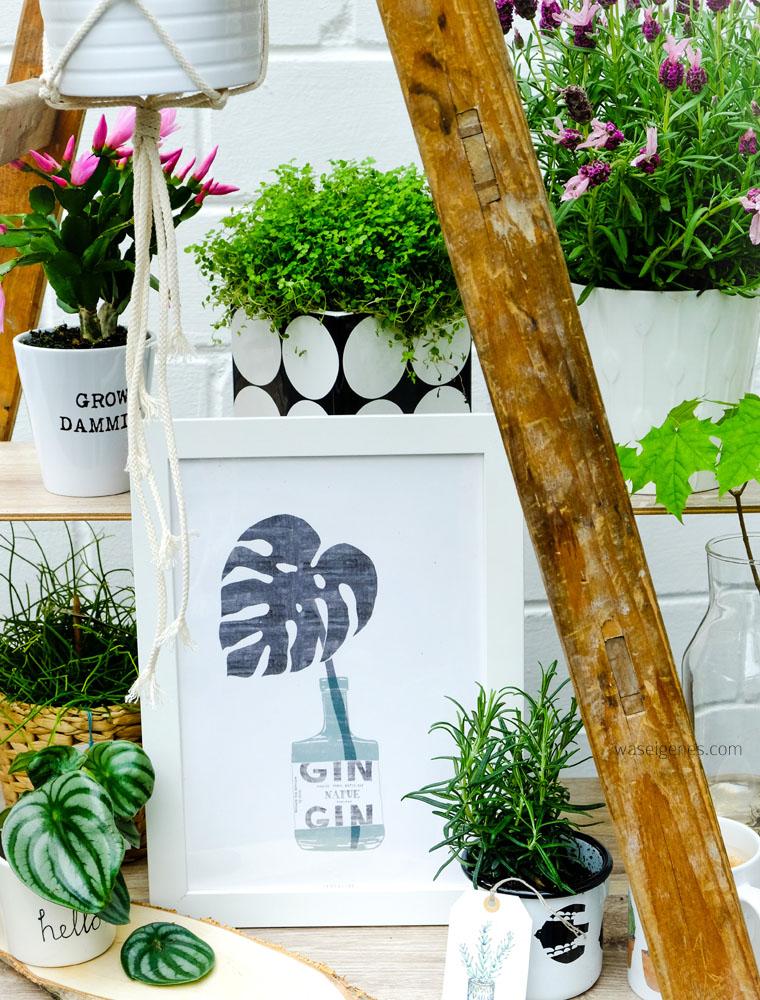 urban jungle | Grünpflanzen & Pflanzendeko | Gin Print typealive | waseigenes.com