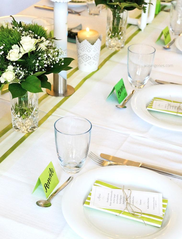 Tischdekoration Kommunion maigrün | Kommunion Dekoideen, Dekoration zur Kommunion, waseigenes.com