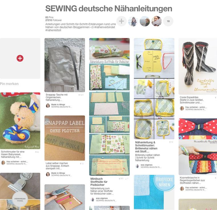 Pinterest Gruppen Pinnwand SEWING Deutsche Nähanleitungen | waseigenes.com