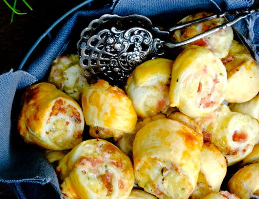 Schnelles Party Rezept Blätterteigschnecken mit Schinken und Käse | waseigenes.com