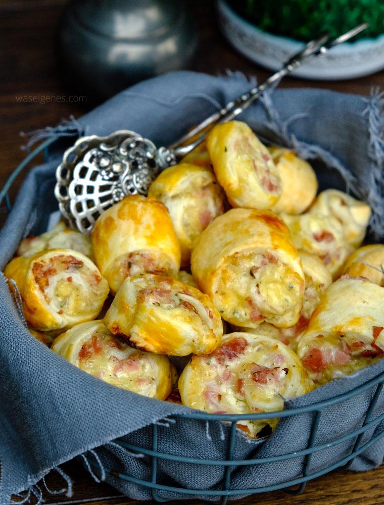 Schnelles Party Rezept Blätterteigschnecken Mit Schinken Salami