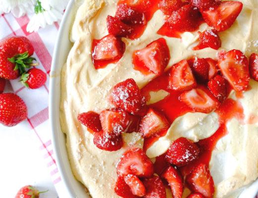 Milchreisauflauf mit Erdbeeren und Eischneehaube | waseigenes.com